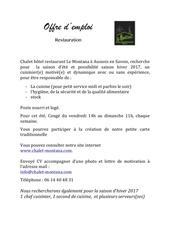 Fichier PDF 2016 offre d emploi