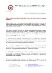 lettre ambassadeur carte de sejour 05 06 2016