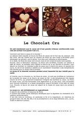 recettes de chocolats et de gateau crus