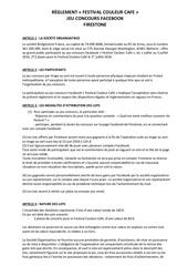 reglement jeu concours facebook couleur cafe festival 2