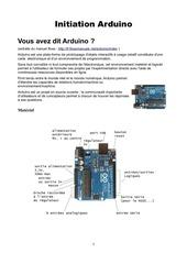 Fichier PDF cours arduino