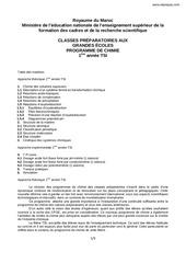 programme de chimie tsi1