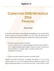 Fichier PDF brevet 2016 corrige francais