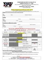 engagements concours 09 10 juillet 16