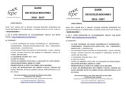 fcpe flyers guide bouvines 2016 2017