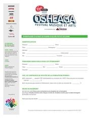 osheaga formulaire