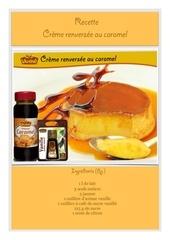 Fichier PDF recette creme caramel vahine