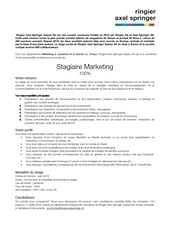 ringier axel springer stage marketing le temps