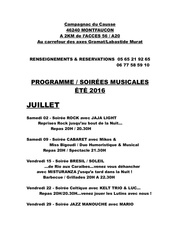 programme soirees campagnac 2016