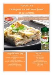 recette lasagne saumon ducros