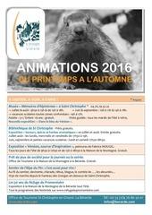 animations 2016 st christophe en oisans la berarde