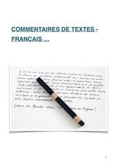 commentaires de textes fr pdf