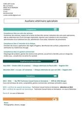 cv auxiliaire veterinaire pdf