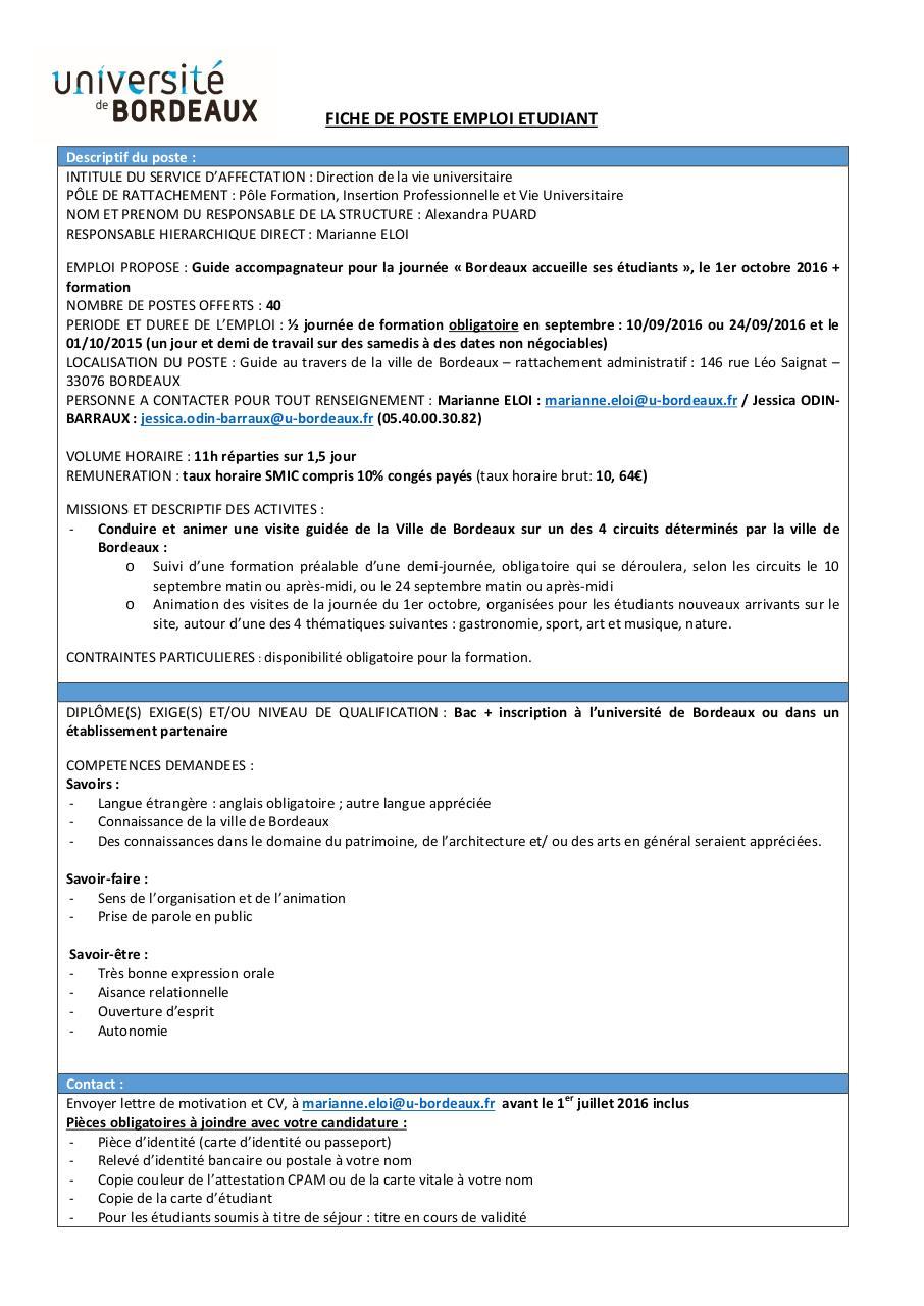 fiche de poste bdx accueille2016 par karine