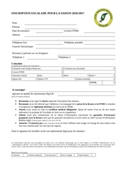 formulaire inscription club vosgien escalade 2016 2017