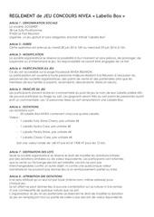 Fichier PDF reglement jeu concours nivea labello