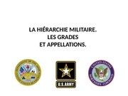 la hi rarchie militaire
