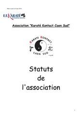 statuts karate kontact caen sud