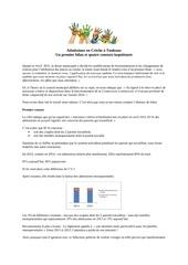 bilan admissions en creche