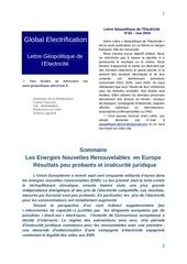 lettre geopolitique de l electricite n 64 juin 2016