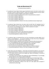 biochimie colle 1
