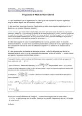 programme de math a warren