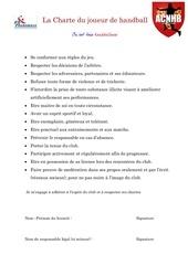 Fichier PDF charte du joueur