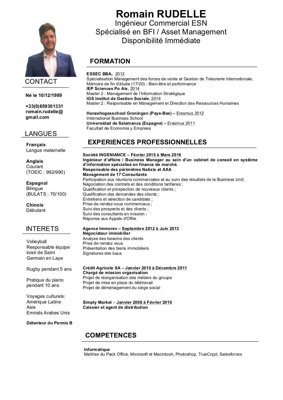 cv romain rudelle 2016 doc par romain - cv romain rudelle pdf