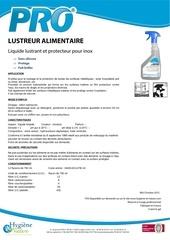 Fichier PDF pro lustreur alimentaire ft