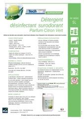 techline detergent citron vert ft