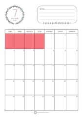 calendrier juillet 2016 rouge