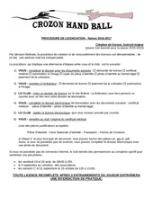 procedure de licenciation majeur creation 20160521