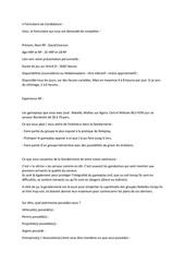 candidature gendarmerie formulaire