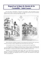 regard sur ligne cormeilles en parisis saint lazare