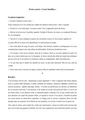 texte courts court bouillon