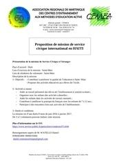 affiche mission haiti