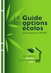 Fichier PDF guide des options ecolos apchq