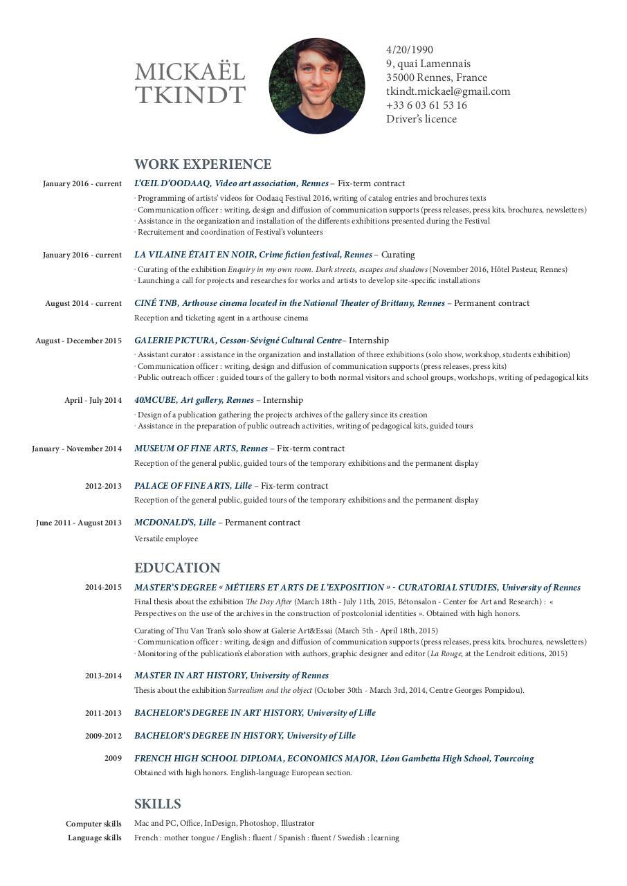 cv huard cl u00e9ment - page 1  1