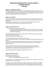reglement jeu concours bospop weert en 2