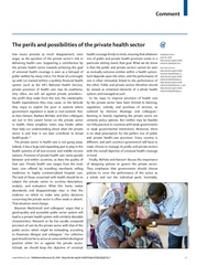 the perils and possibilities of the private health sector