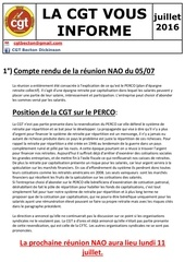 information cgt nao horaire