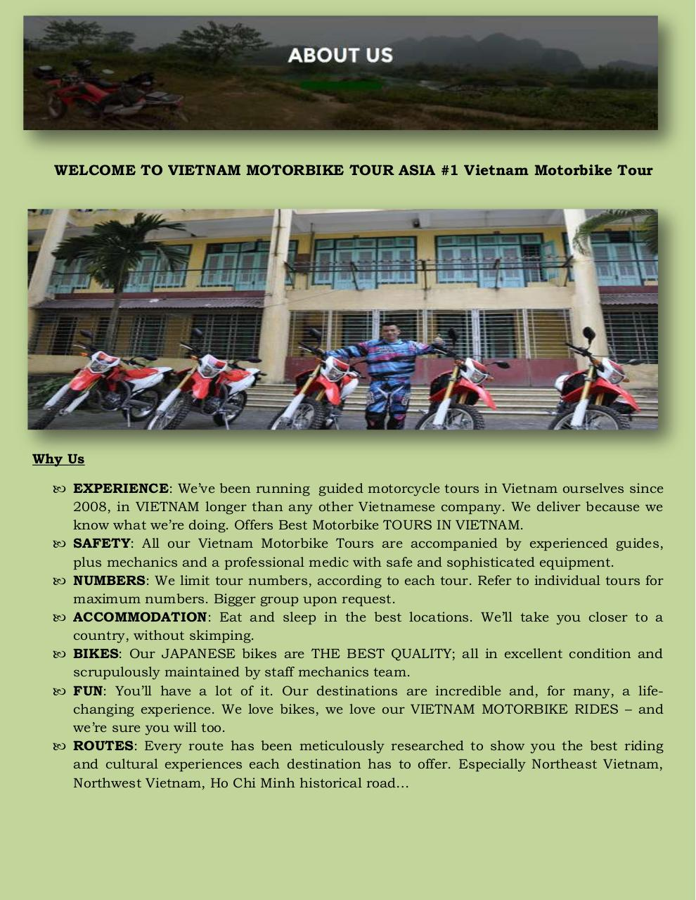 Northern Vietnam Motorcycle Tours.pdf - page 2/3