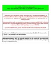 dcision liste des admis sog 1 mars 20161