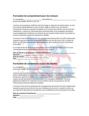 microsoft word formulaire de renoncement et consentement mediatique