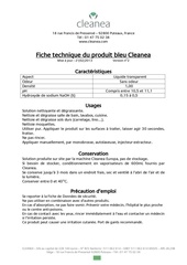 cleanea solution bleue ft