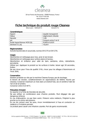 cleanea solution rouge ft