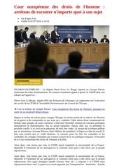 cour europeenne des droits de l homme