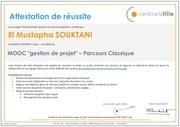 certificat de la gestion de projet