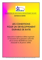 conference debat sur developpement durable a batie