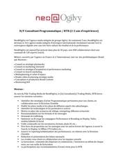 consultant e programmatique rtb juillet 2016